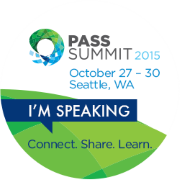 I'm speaking at PASS Summit 2015